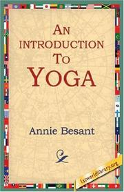 Cover of: An Introduction to Yoga | Annie Wood Besant