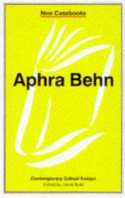 Cover of: Aphra Behn | Janet Todd