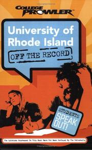 Cover of: University of Rhode Island | Jessica Pritz