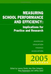 Cover of: Measuring School Performance And Efficiency by Leanna Stiefel