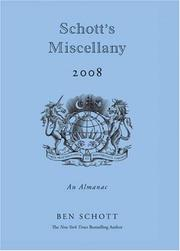 Cover of: Schott's Miscellany 2008 by Ben Schott