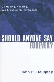 Cover of: Should Anyone Say Forever by John C. Haughey