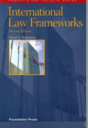 Cover of: International Law Frameworks (Concepts and Insights Series) | David J. Bederman