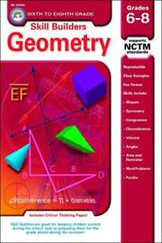 Cover of: Geometry Grades 6-8 (Skill Builders Series) | Douglas M. Sept