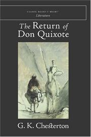 Cover of: The return of Don Quixote by G. K. Chesterton