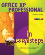 Cover of: Office XP Professional in Easy Steps | Stephen Copestake