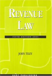 Cover of: Revenue law | John Tiley