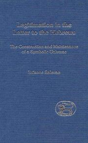 Cover of: Legitimation in the Letter to the Hebrews by Iutisone Salevao