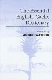 Cover of: Gaelic-English Dictionary by Angus Watson
