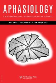 Cover of: Aphasiology (Quality of Life in Aphasia) volume 17 number 4 april 2003 | Linda Worrall