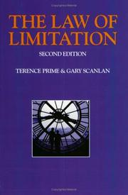 Cover of: The law of limitation | Terence Prime
