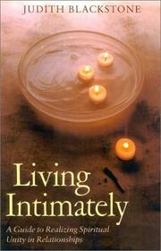 Cover of: Living Intimately | Judith Blackstone