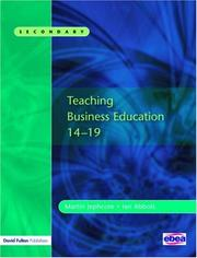 Cover of: Teaching Business Education 14-19 | Martin Jephcote