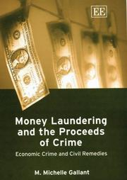 Cover of: Money Laundering And The Proceeds Of Crime by Mary Michelle Gallant