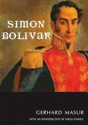 Cover of: Simon Bolivar | Gerard Masur