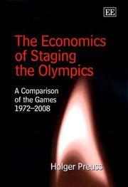 Cover of: The Economics of Staging the Olympics by Holger Preuss