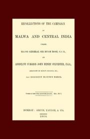 Cover of: Recollections of the Campaign in Malwa And Central India Under Major General Sir Hugh Rose G.c.b | John Henry Sylvester