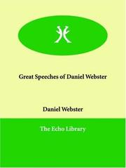 Cover of: Great Speeches of Daniel Webster | Daniel Webster