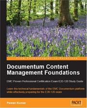 Cover of: Documentum Content Management Foundations | Pawan Kumar