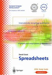 Cover of: Spreadsheets | David Stott