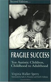Cover of: Fragile Success | Virgina Walker Sperry