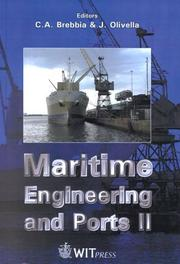 Cover of: Maritime engineering and ports II | International Conference on Maritime Engineering and Ports (2nd 2000 Barcelona, Spain)