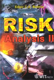 Cover of: Risk analysis II | International Conference on Computer Simulation in Risk Analysis and Hazard Mitigation (2nd 2000 Bologna, Italy)