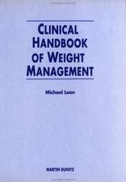 Cover of: Clinical Handbook of Weight Management | Michael E Lean
