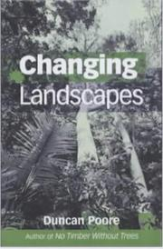 Cover of: Changing Landscapes | Duncan Poore