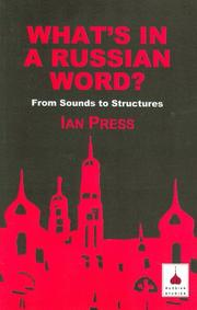 Cover of: What's in a Russian word | Ian Press