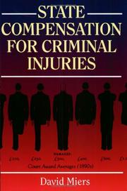 Cover of: Compensation for Criminal Injuries | David Miers