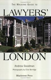 Cover of: The walking guide to lawyers' London by Goodman, Andrew LL. B.