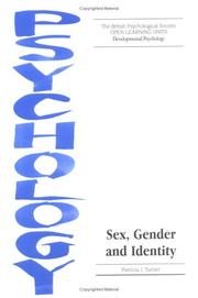 Cover of: Sex, Gender and Identity (Open Learning Units) | Patricia J. Turner