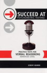 Cover of: Practice Tests for Verbal Reasoning (Succeed at Psychometric Testing) | Jeremy Kourdi