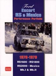Cover of: Ford Escort RS & Mexico Performance Portfolio 1970-79 (Performance Portfolio) | R. M. Clarke