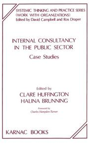 Cover of: Internal Consultancy in the Public Sector | Clare Huffington