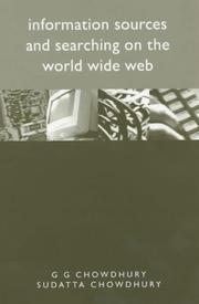 Cover of: Information sources and searching on the World Wide Web by G. G. Chowdhury