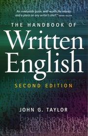 Cover of: The Handbook of Written English | John G. Taylor