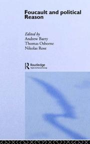 Cover of: Foucault And Political Reason | Andrew Barry Go