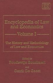 Cover of: The History and Methodology of Law and Economics (Encyclopedia of Law and Economics , Vol 1) | Gerrit De Geest