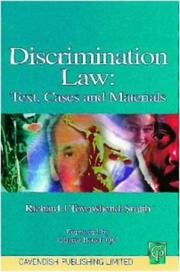 Cover of: Discrimination law | Richard Townshend-Smith
