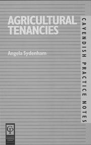 Cover of: Agricultural Tenancies by Michae Furmston