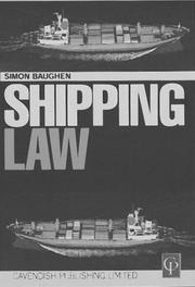 Cover of: Shipping Law | Simon Baughen
