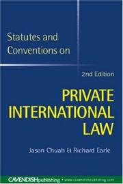 Cover of: Statutes & Conventions on Private International Law | Chuah & Earle