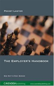 Cover of: The Employer's Handbook | Watt & Border