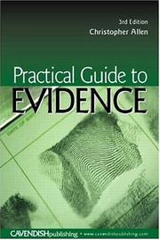 Cover of: Practical Guide To Evidence | Christoph Allen
