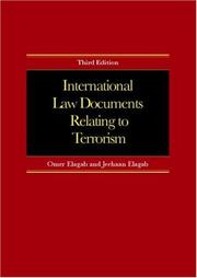 Cover of: Intl Law Documents Relating To Terrorism | Elagab