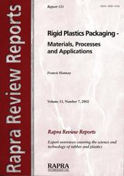 Cover of: Rigid Plastics Packaging - Materials, Processes And Applications | F. Hannay