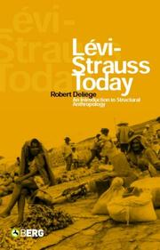 Cover of: Levi-Strauss Today | Robert Deliege