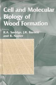 Cover of: Cell and Molecular Biology of Wood Formation (Experimental Biology Reviews) | R. A. Savidge